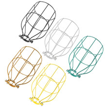 The Best Quality Vintage Steel Bulb Guard Clamp On Metal Lamp Cage Retro Trouble Light Industrial(China (Mainland))