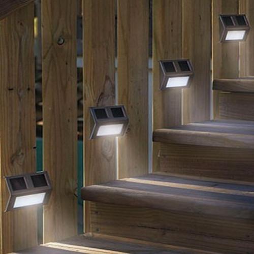 Newest 3 led solar stair light outdoor pathway deck path for Lumiere led pour exterieur