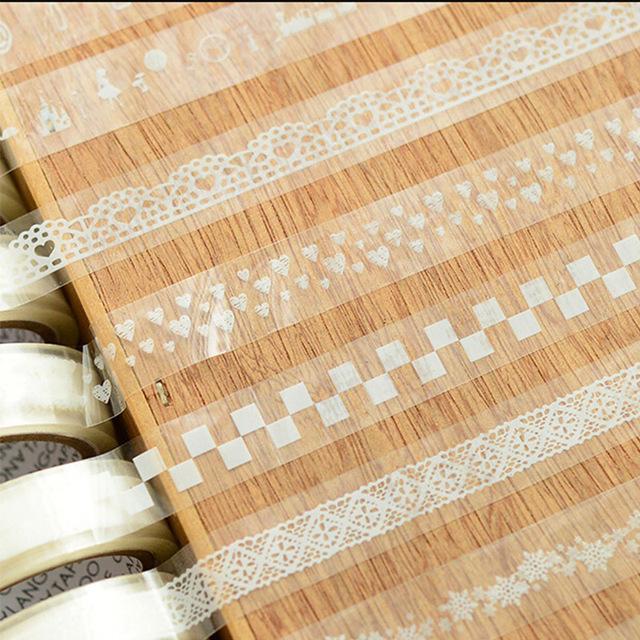 White Lace Washi Tape (5 pcs/lot)