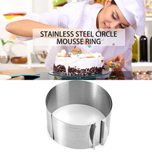 New Arrival Hot Sale Retractable Stainless Steel Circle Mousse Ring Baking Tool Set Cake Mould Mold Size Adjustable Bakeware(China (Mainland))