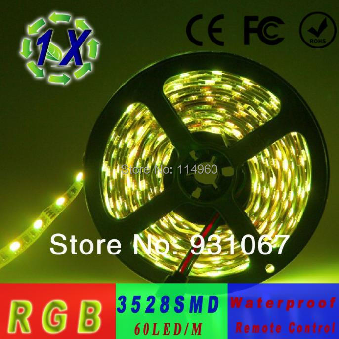 2014 Lamps Waterproof Ip65 Led Strip 60 Led/m Outdoor Lighting 300 Smd3528 Remote Controls Strips Light 5m/reel(China (Mainland))