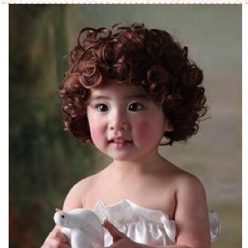 Real Hair Wig For Child Realistic Lace Front Wig