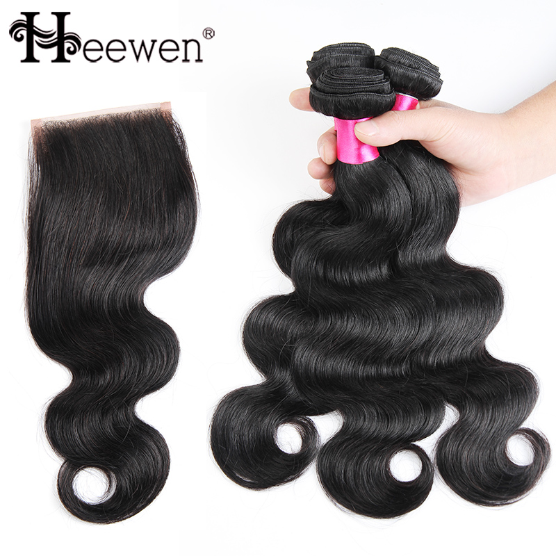 Brazilian Virgin Hair With Closure Queen Hair Products With Closure Bundle Brazilian Body Wave With Closure Hair Bundles<br><br>Aliexpress
