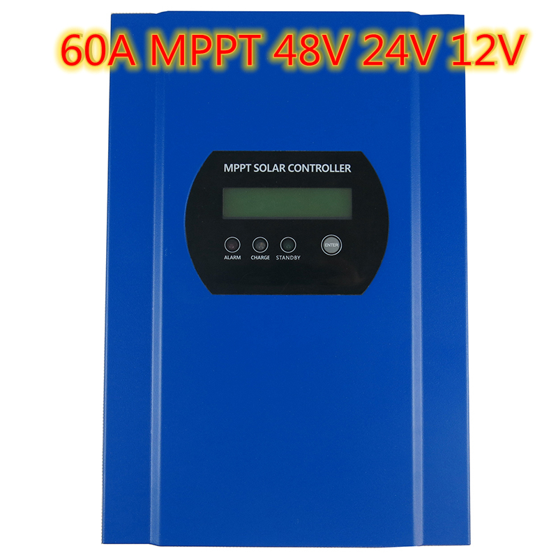 60A MPPT Solar Charge Controller with LCD 48V 24V 12V Automatic Recognition for 3400W Solar Panel High Conversion Efficiency(China (Mainland))