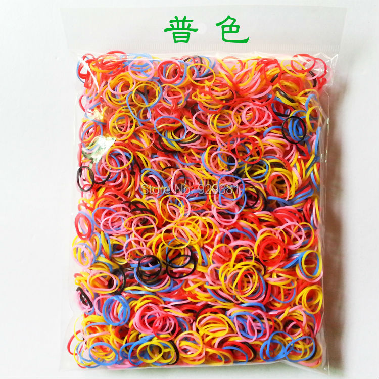 1 bag zhj1258# 500pcs Rubber Hairband Rope Ponytail Holder Elastic Hair Band Ties Braids Plaits hair accessories for girls kids()