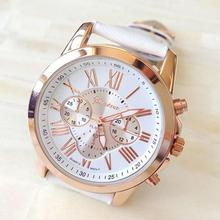 Newly Design Women's Watches Roman Numerals Faux Leather Analog Dress Wrist Watches Hot Selling 160108