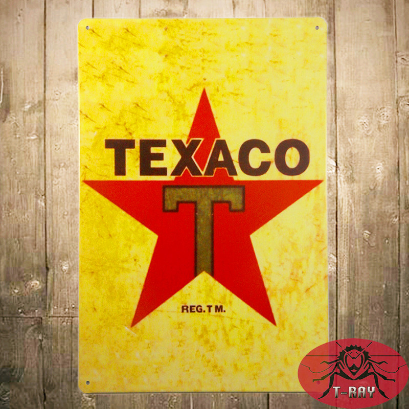 Vintage Tin signs Porcelain Texaco Diesel Chief Gas Station Oil Plate Garage Pub Bar Home Wall Decor(China (Mainland))