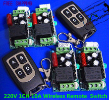 Wireless Remote Controller Wireless Power Switch System 4 Receiver 2 Transmitter 1CH 10A Light Lamp LED