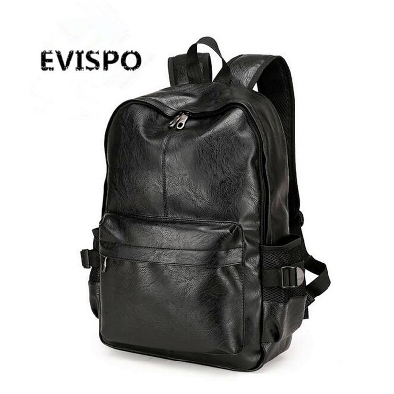 Fashion Brand Vintage Men Business Backpacks Leather School bags for teenager girls Laptop Travel shoulder bags mochila Rucksack(China (Mainland))