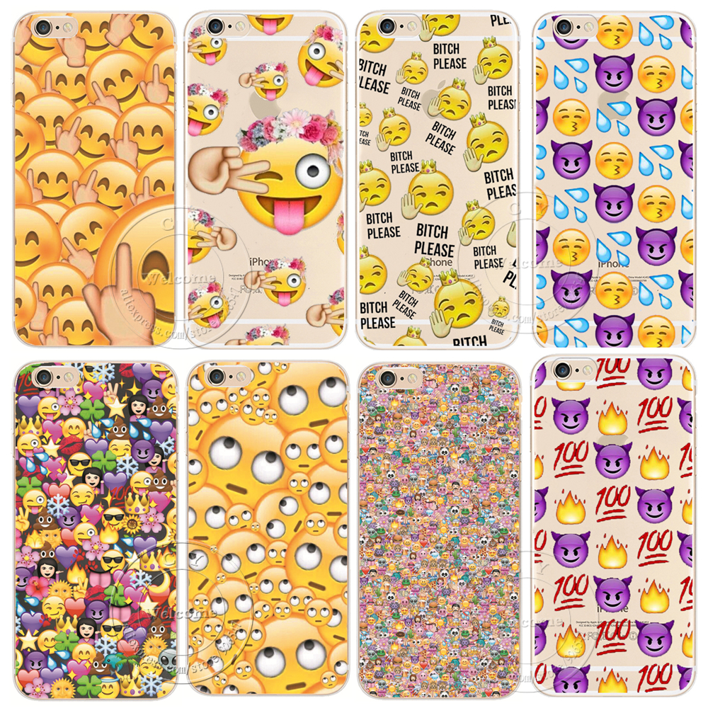Shell For Apple iPhone 5 5S SE 5C 6 6S 7 Plus 6SPlus Back Case Cover Funny Monkey Emoji New Design Hard Plastic Cell Phone Cases(China (Mainland))