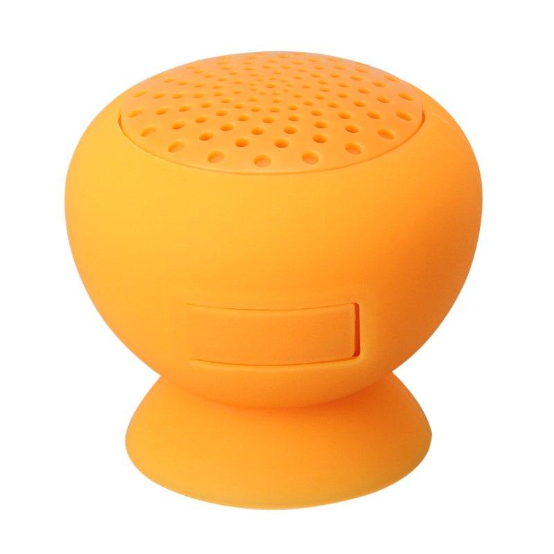 Portable Sucker Bluetooth Mini Speaker Orange for Samsung HTC For iphone ipod For ipad MP3 PC Laptop(China (Mainland))
