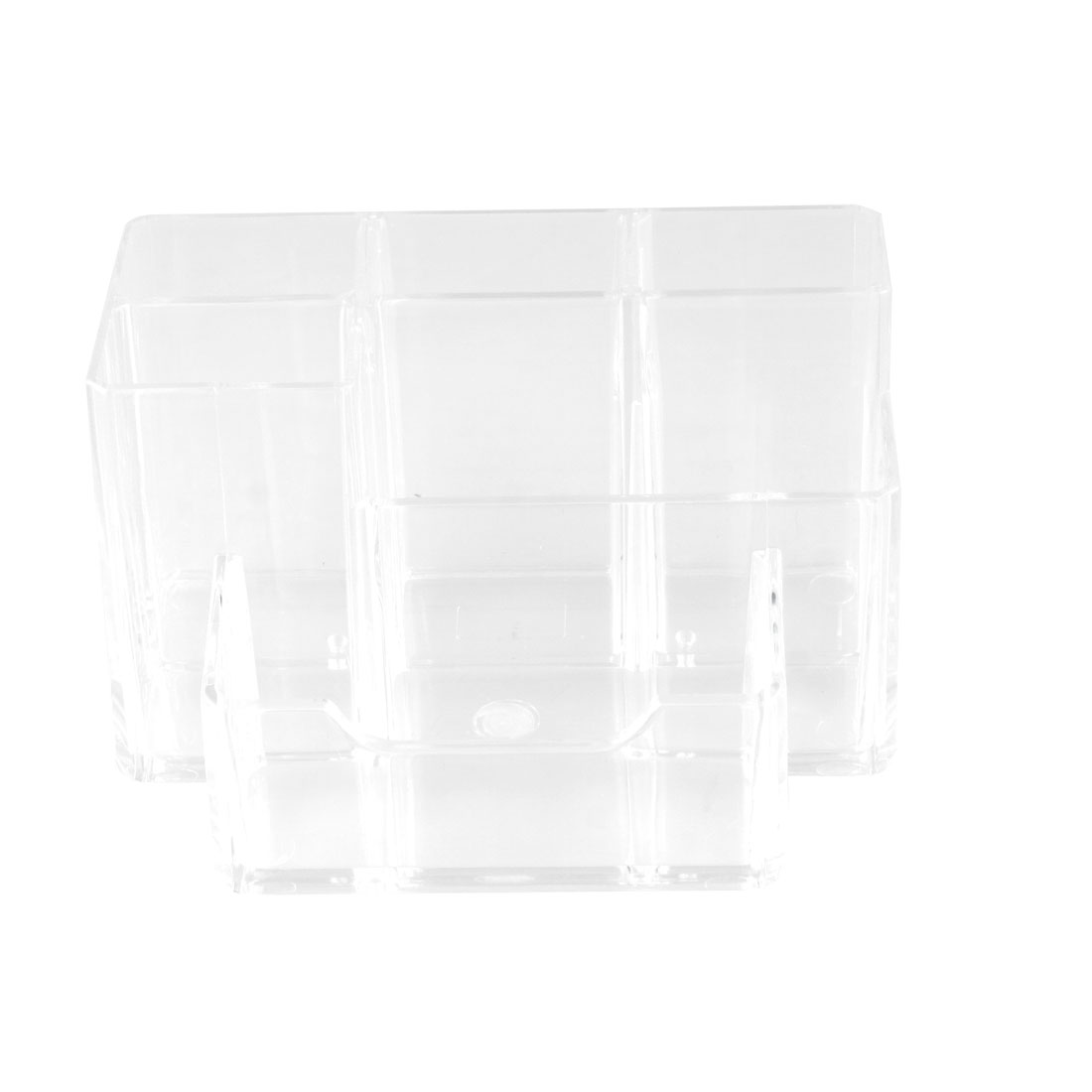 Clear Hard Plastic 6 Sections Muti Function Desk Pen Holder<br><br>Aliexpress