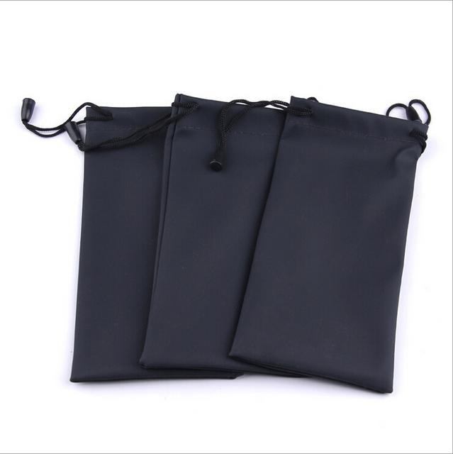 Черный прочный водонепроницаемый пылезащитных пластиковые очки сумка мягкие очки ...