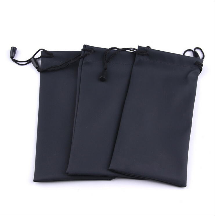 Black Durable waterproof Dustproof plastic sunglasses pouch soft eyeglasses bag glasses case Eyewear Accessories(China (Mainland))