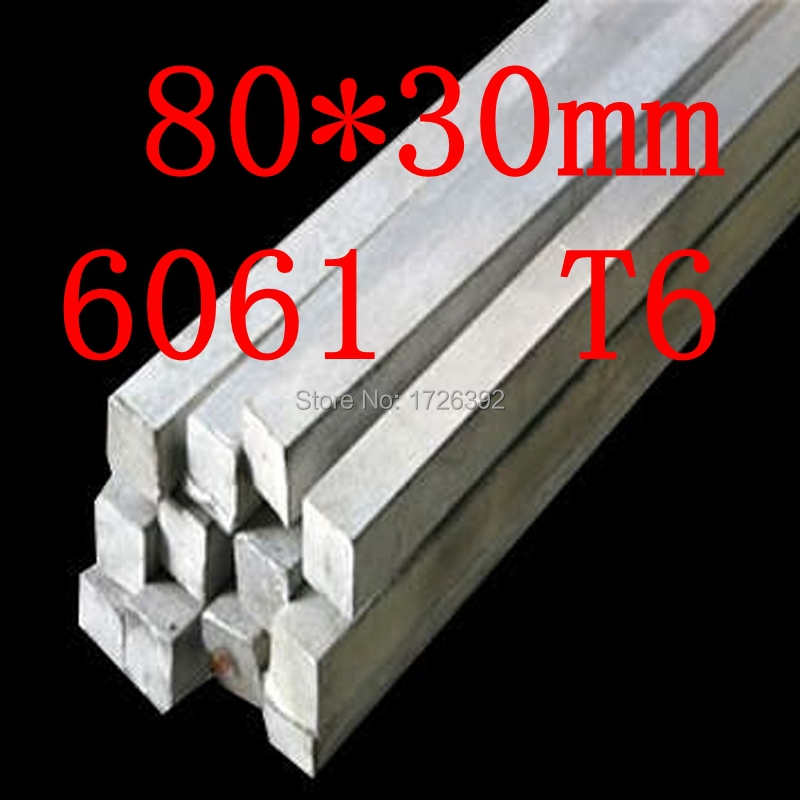 80mm x 30mm Aluminium Flat Rectangular Bar,80*30mm,width 80mm,thickness 30mm,6061 T6