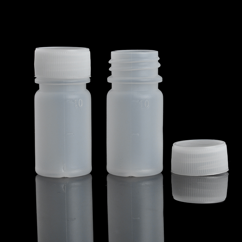 10Pieces/Lot 10 ML Travel Bottle Of Liquid PE Pill Case Small Mouth Drug Bottle With Scale(China (Mainland))