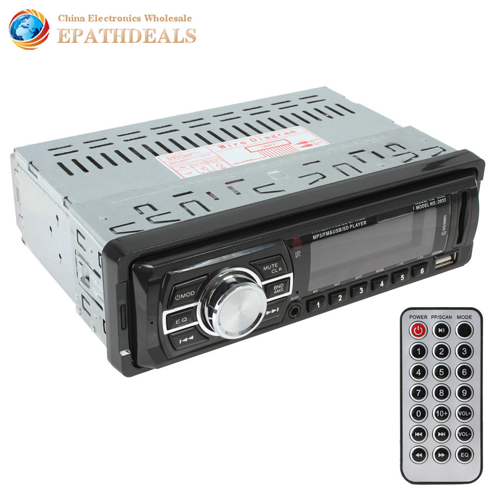 SALE High Quality Car Audio Stereo In Dash Auto Car Radio MP3 Player FM Aux