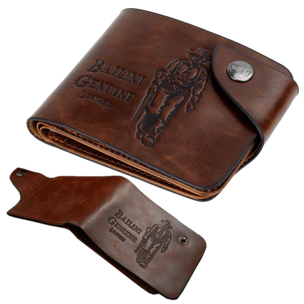 2014 Men s vintage coffee leather purse Men s Solid Lether Card Wallet with Letters print
