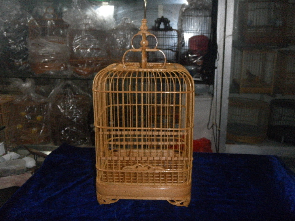 oiseau cage munia cage d 39 oiseau cage d 39 oiseau sauvage bambou laque cage dans cages portatives de. Black Bedroom Furniture Sets. Home Design Ideas