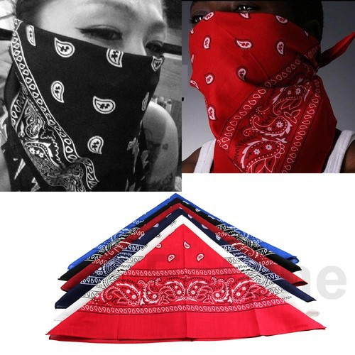 """Y92"""" Hot Selling 1 pc Cotton Scarf Paisley Bandana HeadWrap Hair wrap Double Side Print Headband 6Color(China (Mainland))"""