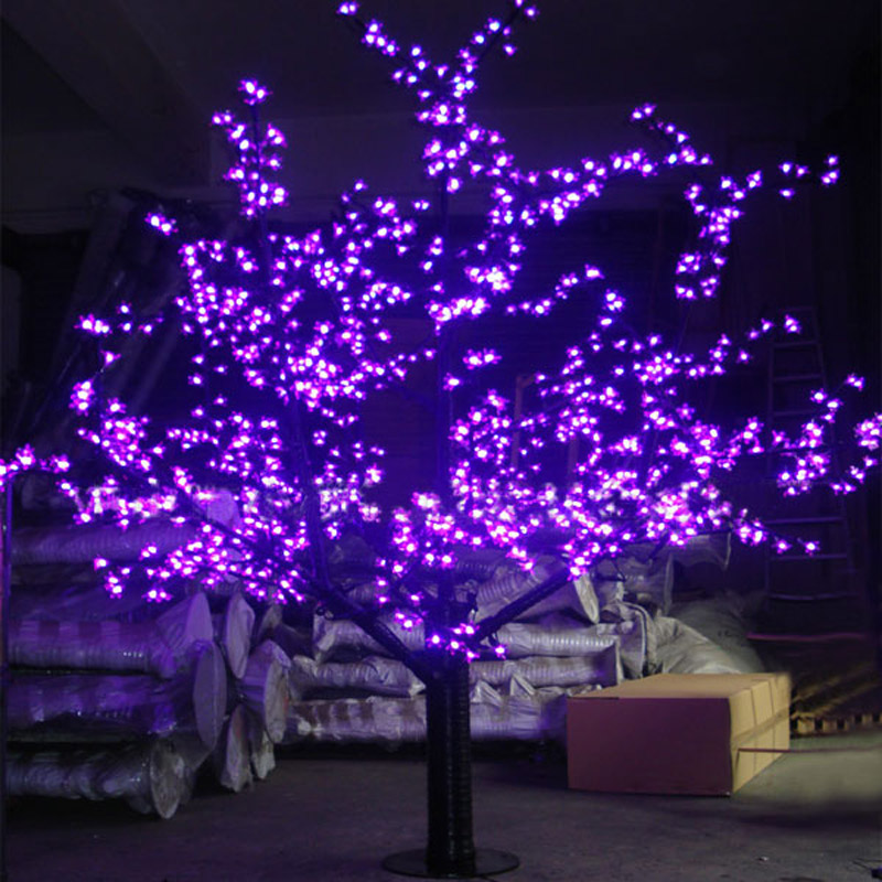 1 5meters 624leds purple blossom cherry tree christmas for Led christmas decorations