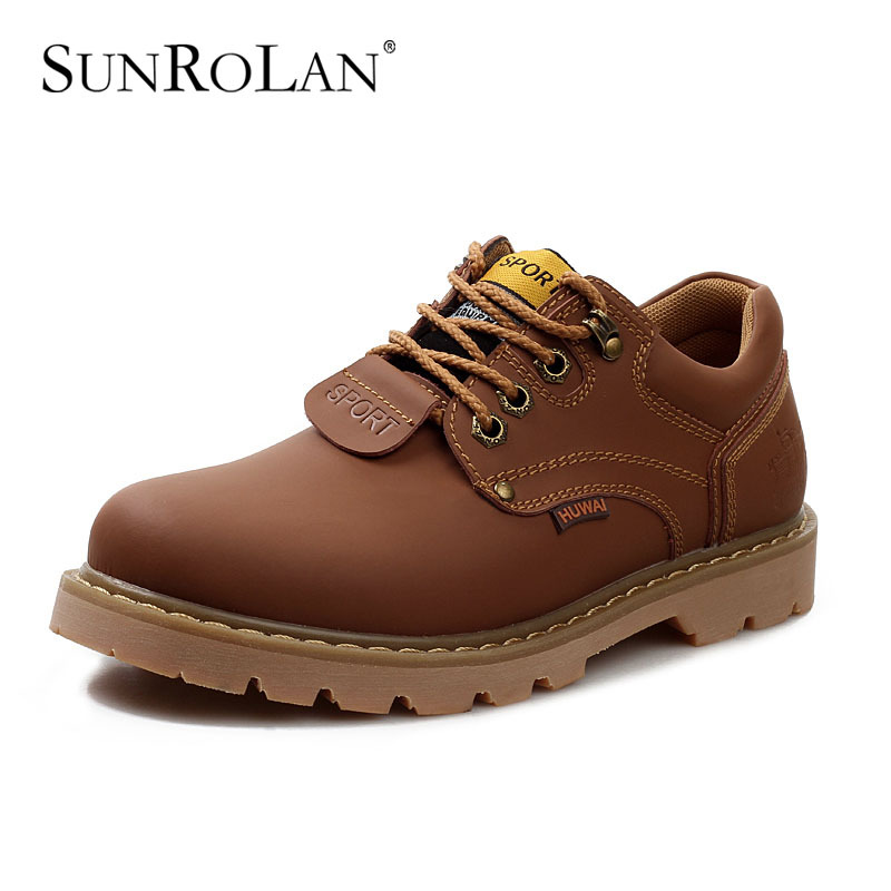 Autumn and winter genuine leather mens ankle boots male casual lace-up round toe tooling shoes outdoor martin boots man SK8566<br><br>Aliexpress