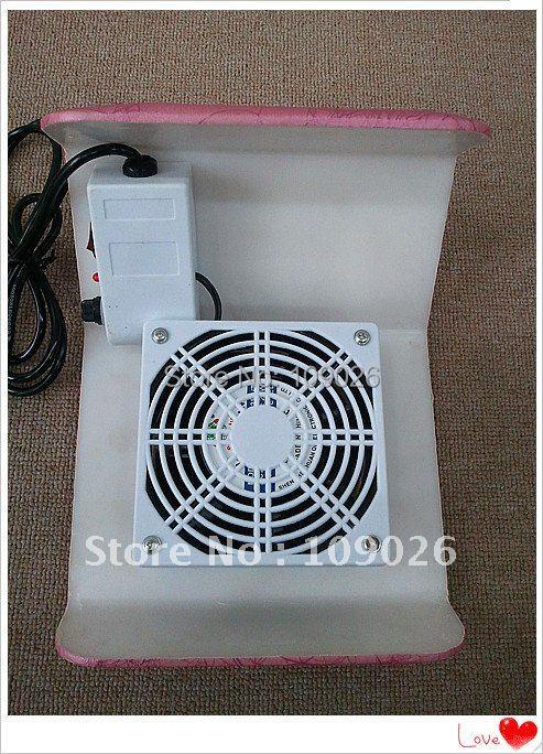 Lightning grain Pink Color Practical 110V - 220V Nail Art Dust Suction Collector Manicure Filing Acrylic UV Gel Tip Machine