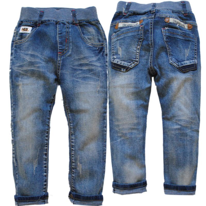 2985 soft kids jeans denim fleece  winter   casual pants trousers Double-deck  2014 baby clothing boys  girls navy blue<br><br>Aliexpress