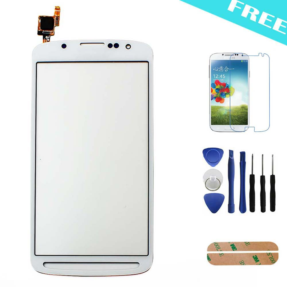 White For Samsung Galaxy s4 active i9295 i537 Front Outer Touch Screen Digitizer Glass Lens + Protective Film + Tools(China (Mainland))