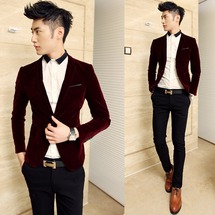 Collection Velvet Blazer Men Pictures - Reikian