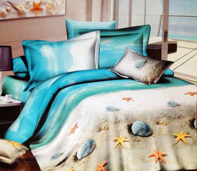 3d Beach Ocean 100 Cotton Designer Bedding Comforter Sets