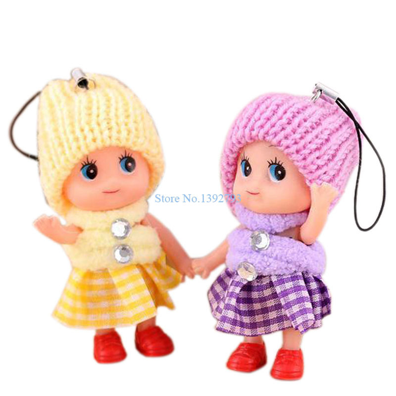 8CM Mobile Phone Straps Princess Dolls Stuffed Toys Doll Handbag Hanging Pendant Christmas Gifts Bonecas For Girls Children C73(China (Mainland))