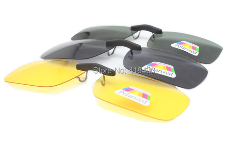 Hot selling wholesale 1000pcs  polarized lens mini sunglasses clip on myopia glasses and for Traveling Driving Night Vision