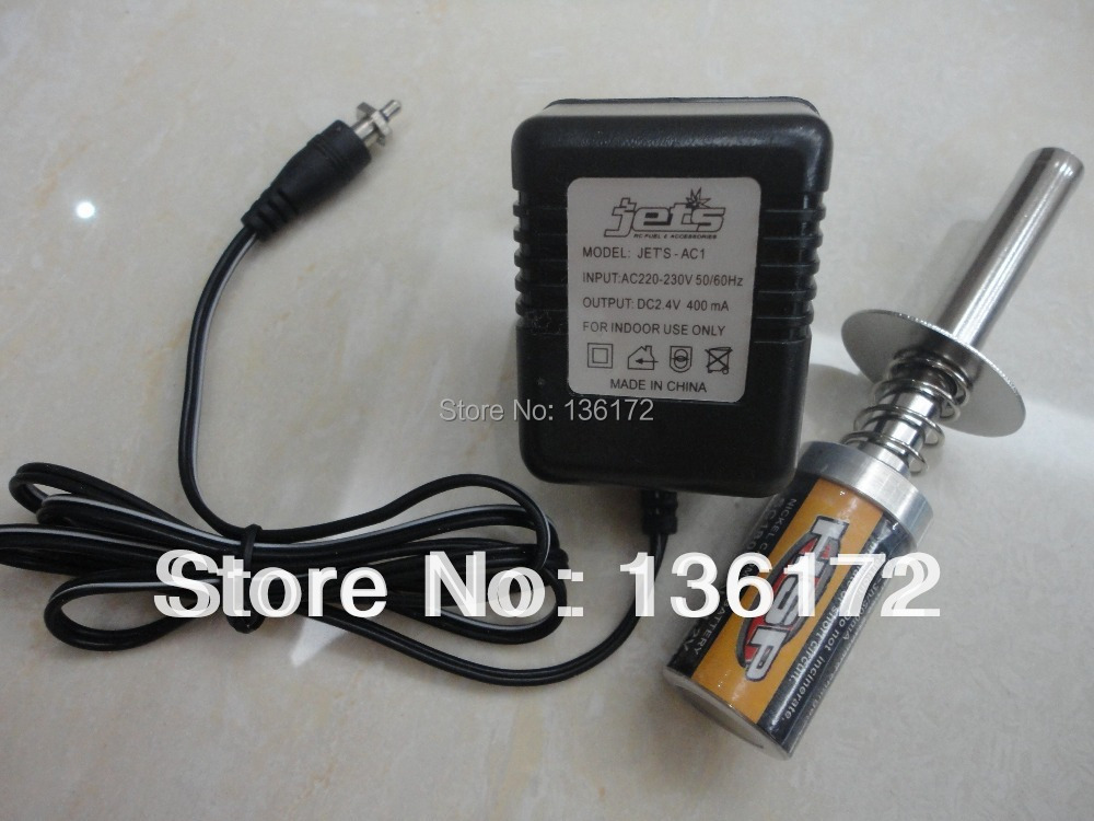 RC Nitro car tool Nitro Gas engine glow starter with rechargeable battery and charger free shipping(China (Mainland))