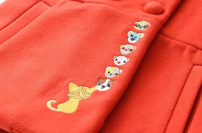 Скидки на Сладкий Девушки Полушерстяные Пальто Флис Воротник Коробка Карманы Осень Зима Outwears Многоцветный Мода Одежда