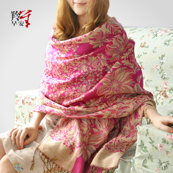 2013 Spring and Autumn new elegant printing scarf large size air conditioning shawl