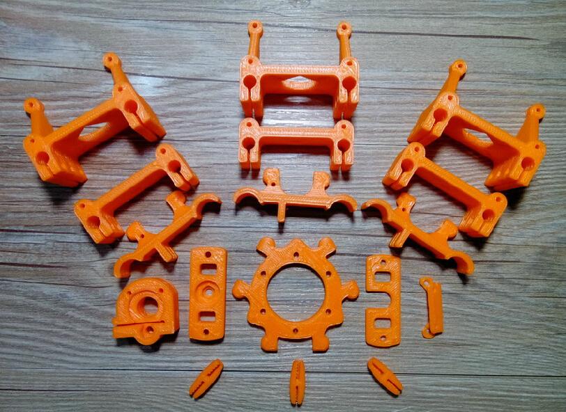 3d printer kit Reprap kossel Rostock Mini Pro Plastic Printed Parts Kit/Set ABS material for DIY 3d printer(China (Mainland))