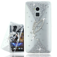 Buy Luxury Rhinestone Bling Glitter Diamond Phone Case HTC Desire 728 728W D728 Transparent Hard PC Clear Back Cover for $1.00 in AliExpress store
