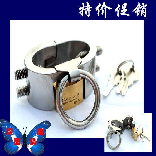 Edelstahl abschließbare huhn ball squeezer männer smcx930 membranously sperre erwachsene sexy metall(China (Mainland))