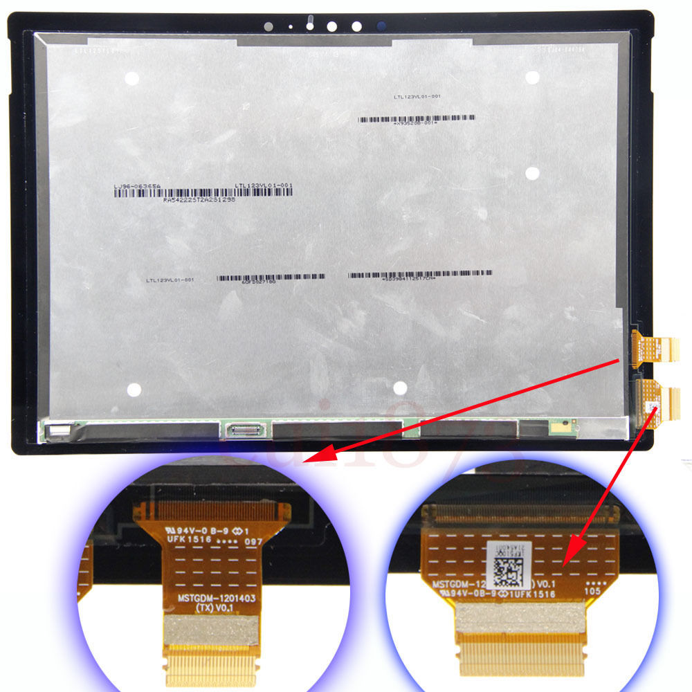 "Free shipping 12.3"" Touch Digitizer LCD Screen Display Assembly For Microsoft Surface Pro 4 V0.1 Model 1724(China (Mainland))"
