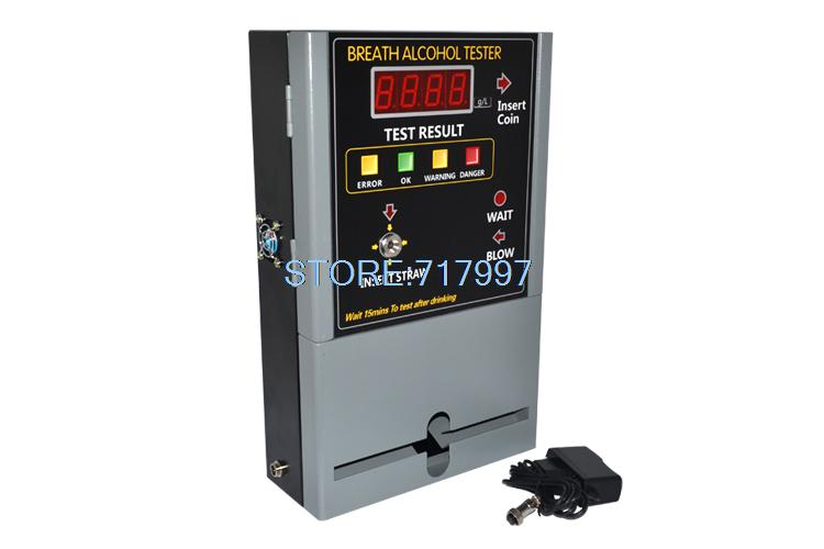 professional coin operated alcohol tester/breathalyzer machine for bar /restaurant /hotel in russia AT-808(China (Mainland))