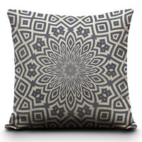 Kaleidoscope Pattern two sides printed cushion cover hold Pillow Shams case 18*18 / 20*30 inch pillowcase-PC374(China (Mainland))