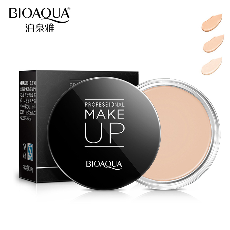 BIOAQUA Brand Face Concealer Cream Makeup Palette Nude Flawless Base Foundation Contour Cream Waterproof Natural Cosmetics 10g(China (Mainland))