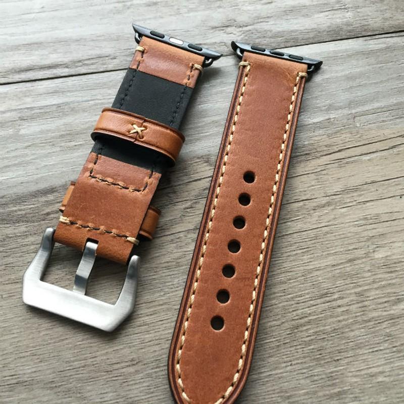 38 мм 42 мм яблоко часы группа, Ручной мягкие натуральная кожа ремешок для Iwatch яблоко часы с адаптером 4 цвет