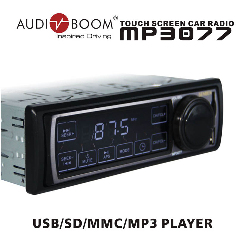 RL-3077  Automotive Car radios /with touch screen panel /support FM transmitter/MP3 USB SD MMC slot<br><br>Aliexpress