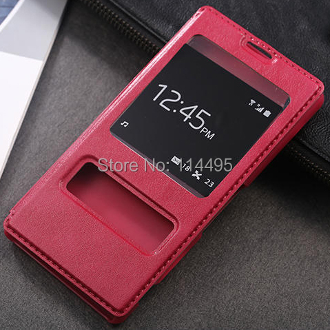 Vintage View Double Window PU Goat Leather Flip Case Sony Xperia Z1 Z2 Z3 Stand Holder Hard Back Cover funda Carcasa - creagua store