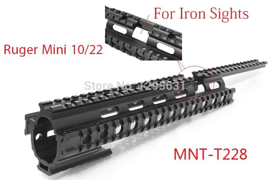 Установка оптического прицела Scops owl 10/22 Ruger quad/rail mnt/t228 MNT-T228