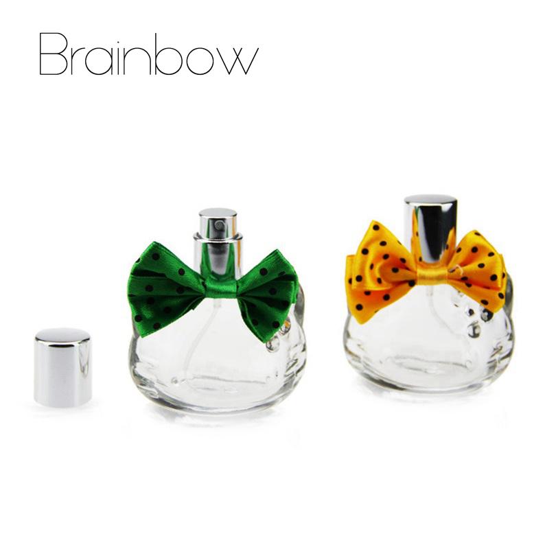 1pc of 40ml Cute Bow Style Refillable Portable Mini Perfume Bottle &Traveler Glass Spray Atomizer Empty Parfum Bottle Nice Gift(China (Mainland))