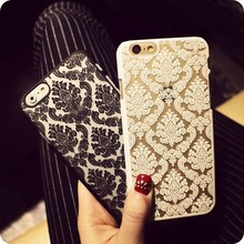 2016 New Phone Case For Apple iphone6 6S 4.7 6Plus 5.5 Cases Vintage Lace Flower Pattern Top Quality Luxury Phone Back Cover
