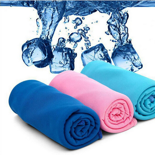 summer cooling speed cold spread ice hand microfiber towel brand frozen beach microfiber superdry towel(China (Mainland))